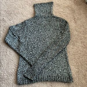 Limited black and white marled turtleneck sweater